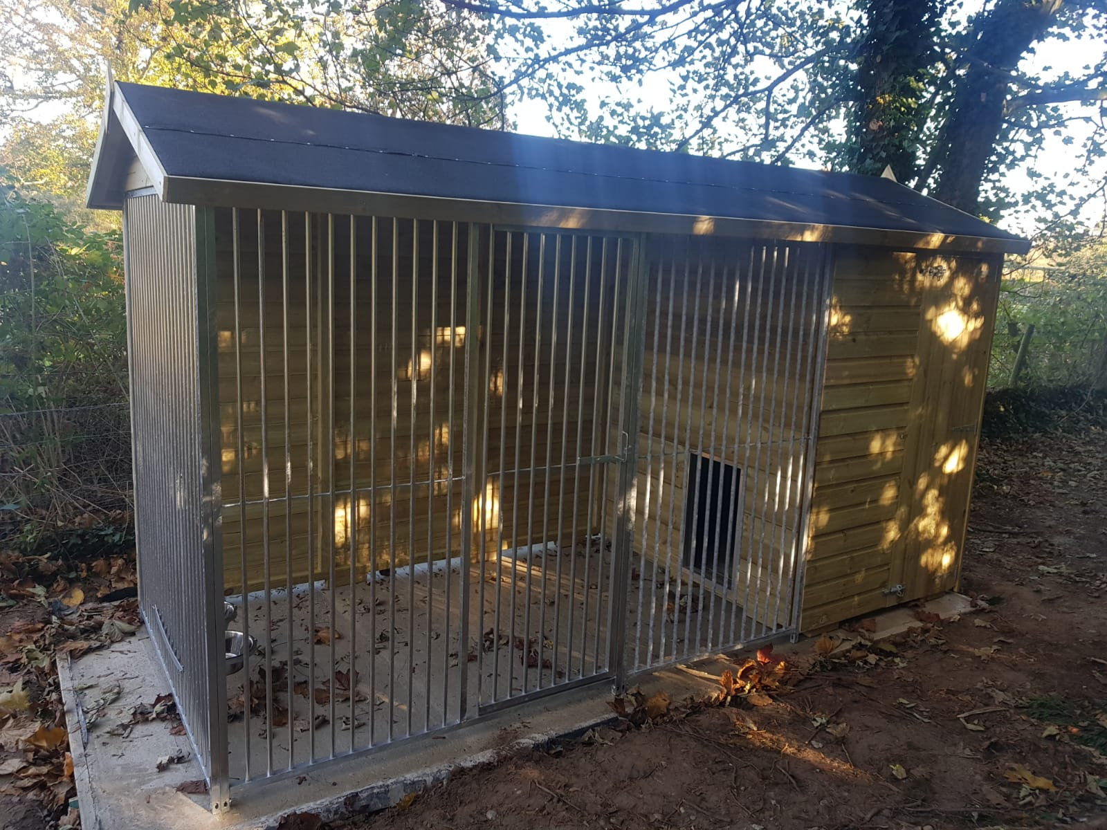 The Wymbury 10.6ft Wide X 5ft Deep Dog Kennel
