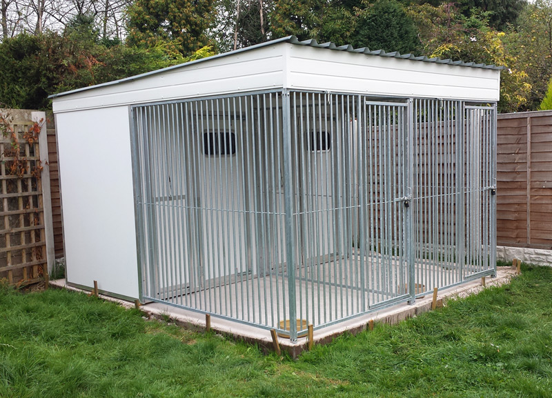 Double Thermal Roofed Run Unit 3.0m wide x 3.5m deep 2.0m high
