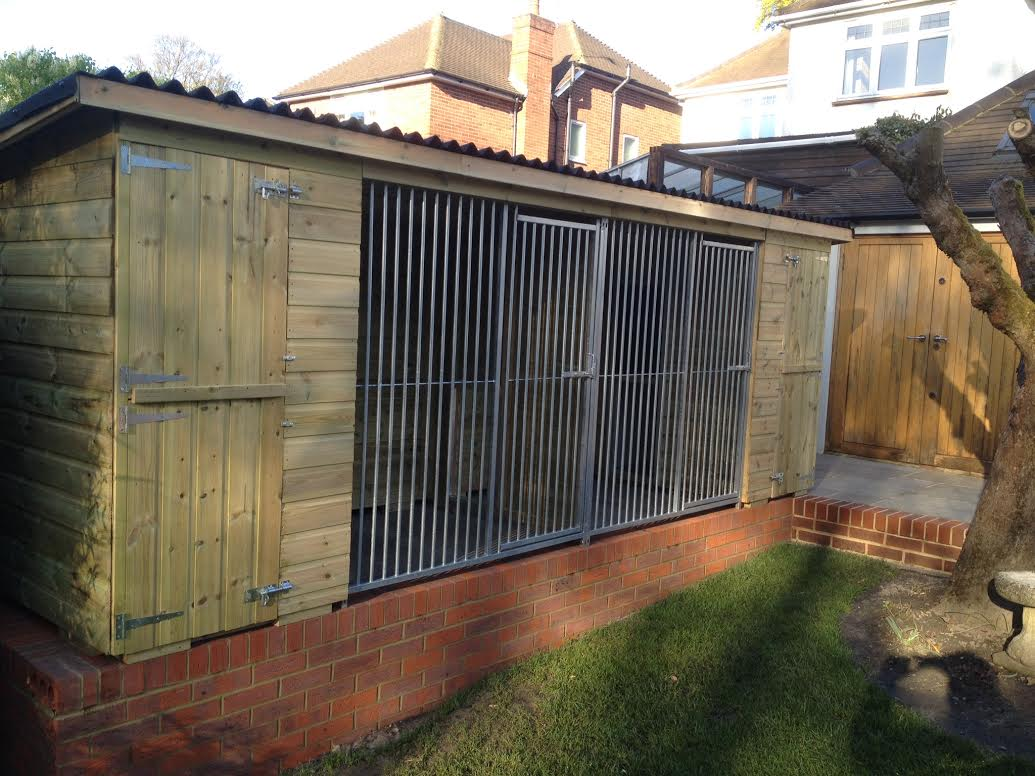 The Marple Double 16ft x 4ft dog kennel
